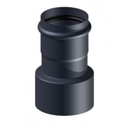 Redukcja czarna fi 100mm na fi 80mm na pelet / pellet