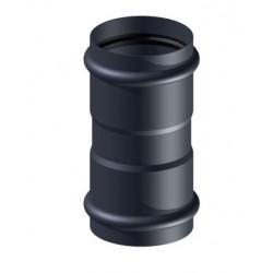 Złączka czarna żeńska fi 80mm na pelet