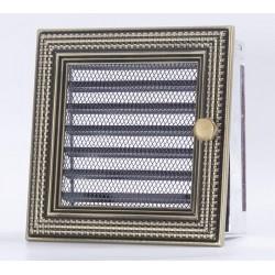 Kratka kominkowa Ratan złoty 17 x 17 z żaluzją