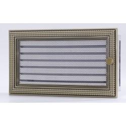 Kratka kominkowa Ratan złoty 17 x 30 z żaluzją