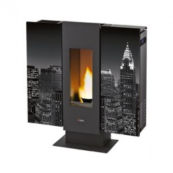 Piecyk na pelet Wall Air New York 9,0 kW - Cadel