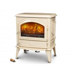 DOVRE 640 CB kremowa biel E8 emalia norweski piecyk na drewno, TRANSPORT GRATIS