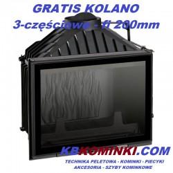 UNIFLAM 700 PLUS z szybrem, doprowadzenie powietrza, żeliwny francuski wkład kominkowy, najlepsza cena - KBkominki.com