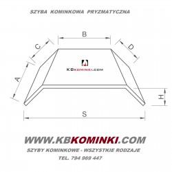 Szyba kominkowa pryzmatyczna ROBAX - najniższa cena szyby pryzmatycznej do kominka. www.kbkominki.com