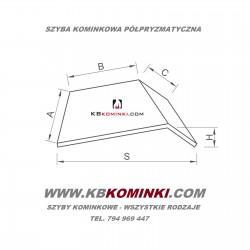 Szyba kominkowa polpryzmatyczna ROBAX. Najlepsza cena szyby kominkowej półpryzmatycznej. www.kbkominki.com