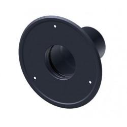 Rozeta czarna z uszczelką fi 80mm na pelet / pellet