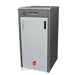 Kocioł na pelet RED Compact 24 (3,8-22,1 kW) CO+CWU z pompą elektroniczną
