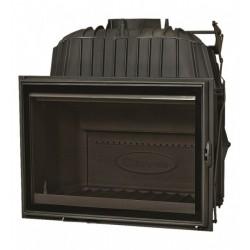 Szyba kominkowa DOVRE 2180 CBS z czarnym dekorem