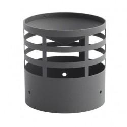 Wyrzutnia / Terminal czarny fi 80mm na pelet / pellet